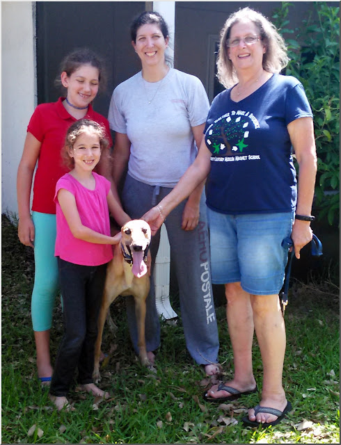 Savvy with his new family in Coconut Creek
