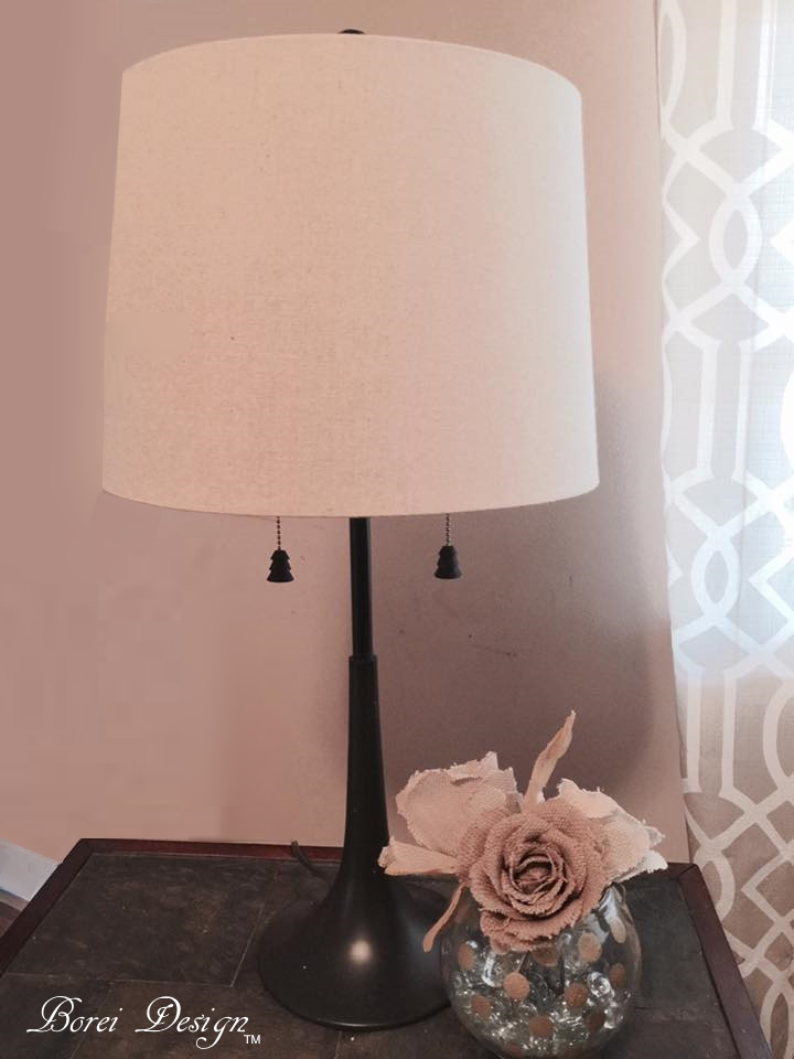 How to replace a permanent lamp shade and make a finial diy thrift store lamp makeover tutorial how to replace permanent shade make finial mozeypictures Gallery