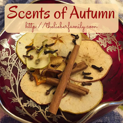 Blog With Friends, multi-blogger posts. This month's theme: Apples | Scents of Autumn by Rabia of The Lieber Family Blog | Shared on www.BakingInATornado.com