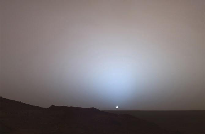 Por do Sol em Marte - sonda Spirit