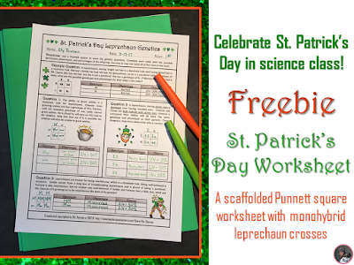 St. Patrick's Day Genetics Freebie