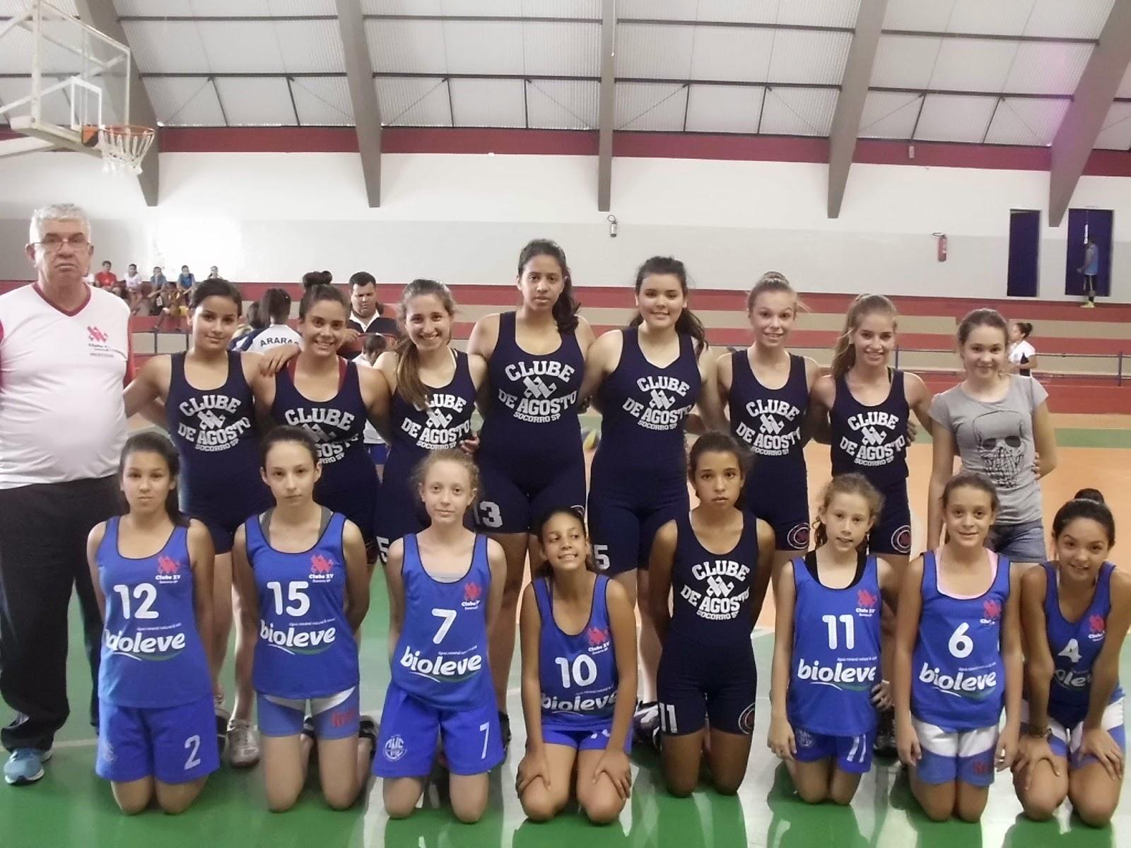 A equipe de basquetebol feminino do Clube XV Prefeitura de Socorro a25efe7e71324