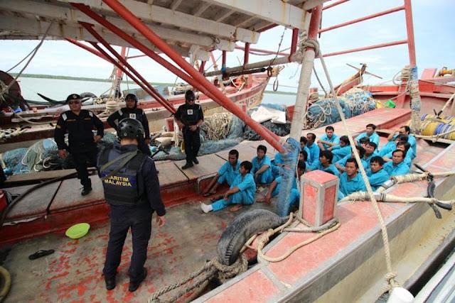 APMM Wilayah Sarawak Tahan 37 Bot Nelayan Asing, Tertinggi Sejak 13 Tahun Lepas