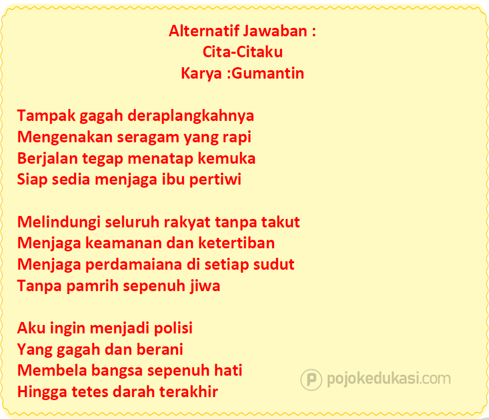 Kunci Jawaban Halaman 108, 109, 110 Tema 6 Kelas 4