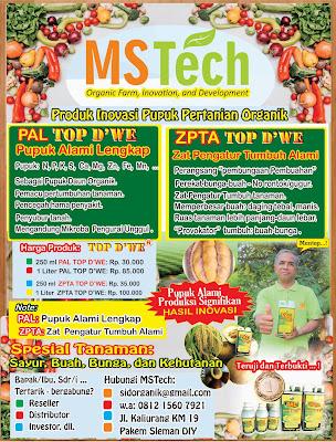 Jual Pupuk Pertanian Organik Inovasi dan Teknologi Milenial: TOP D'WE Asli MSTech Produk Free Ongkir Tlp: 081313888479