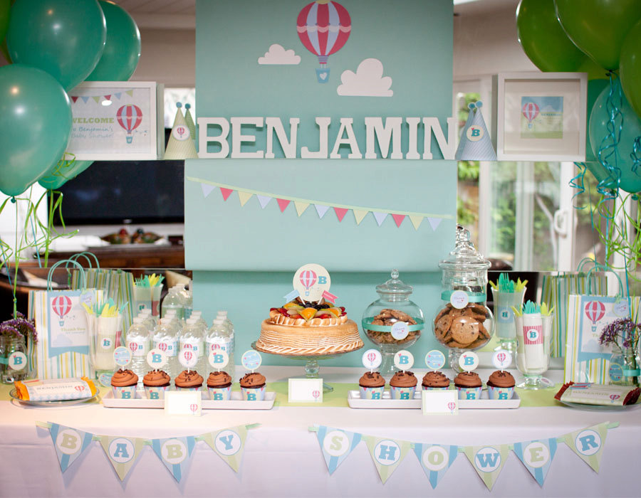 Kara's Party Ideas Up & Away Baby Shower | Kara's Party Ideas