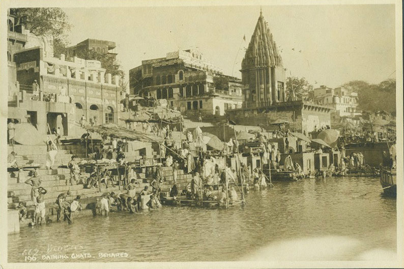 Ghats of Varanasi (Benares) in Uttar Pradesh, India