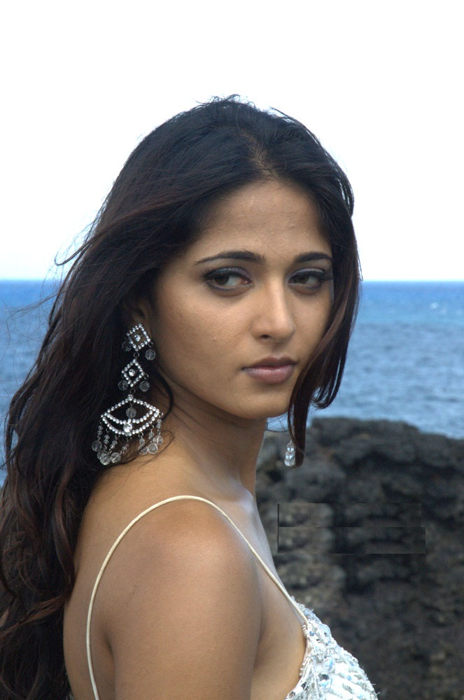 Actress Anushka Shetty Beautiful Sad Looking Mass Face Close Up Stills