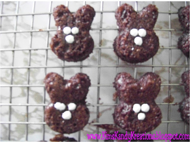 Easter Bunny Brownie Bites