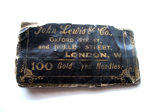 vintage John Lewis Gold Eyed Needles london blitz WW2