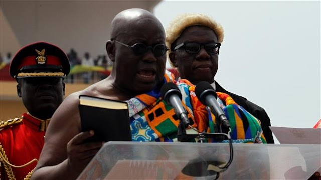 Nana Akufo-Addo sworn in as Ghana's new president