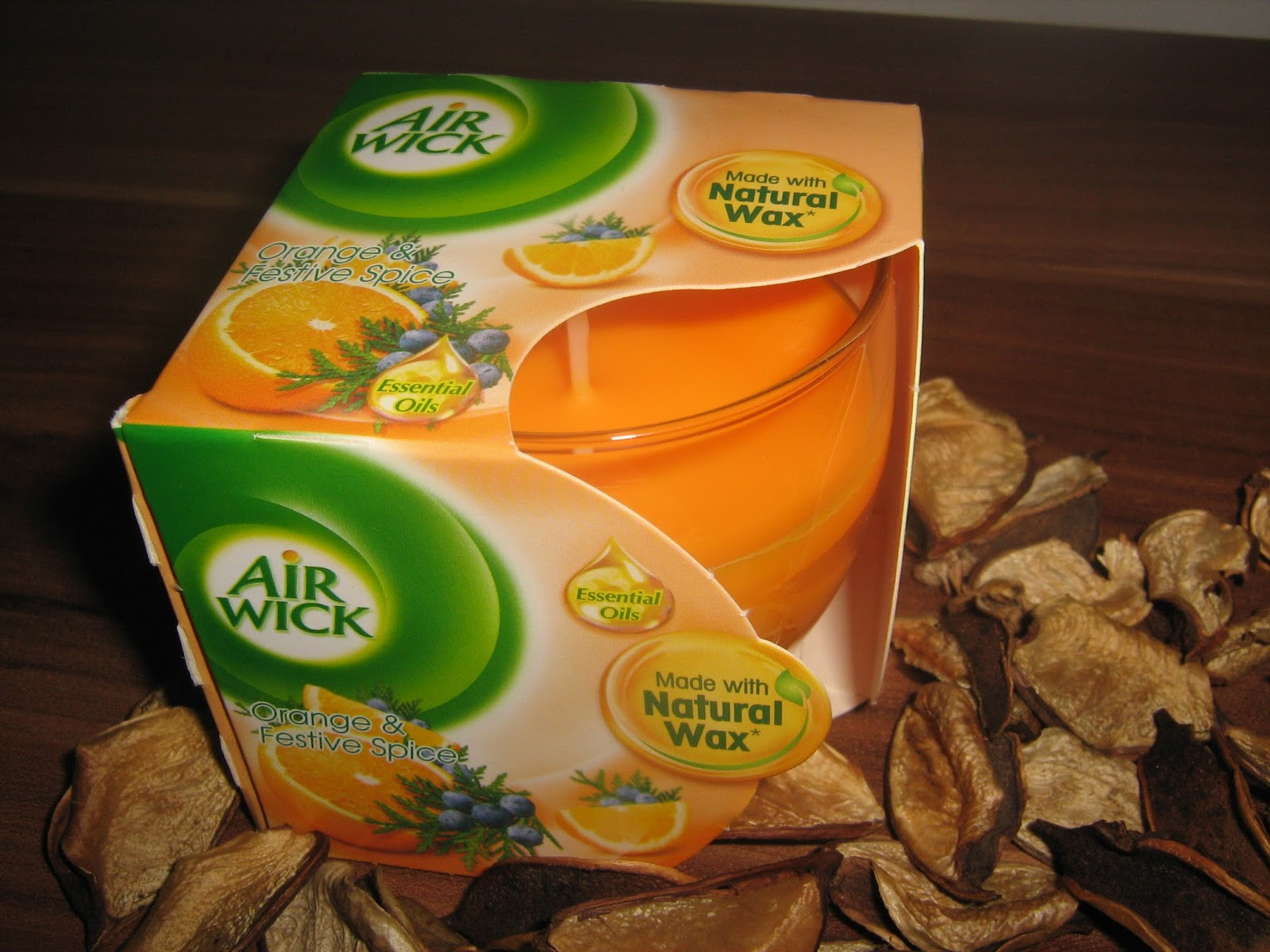 Air Wick świeca Orange & Festive Spice