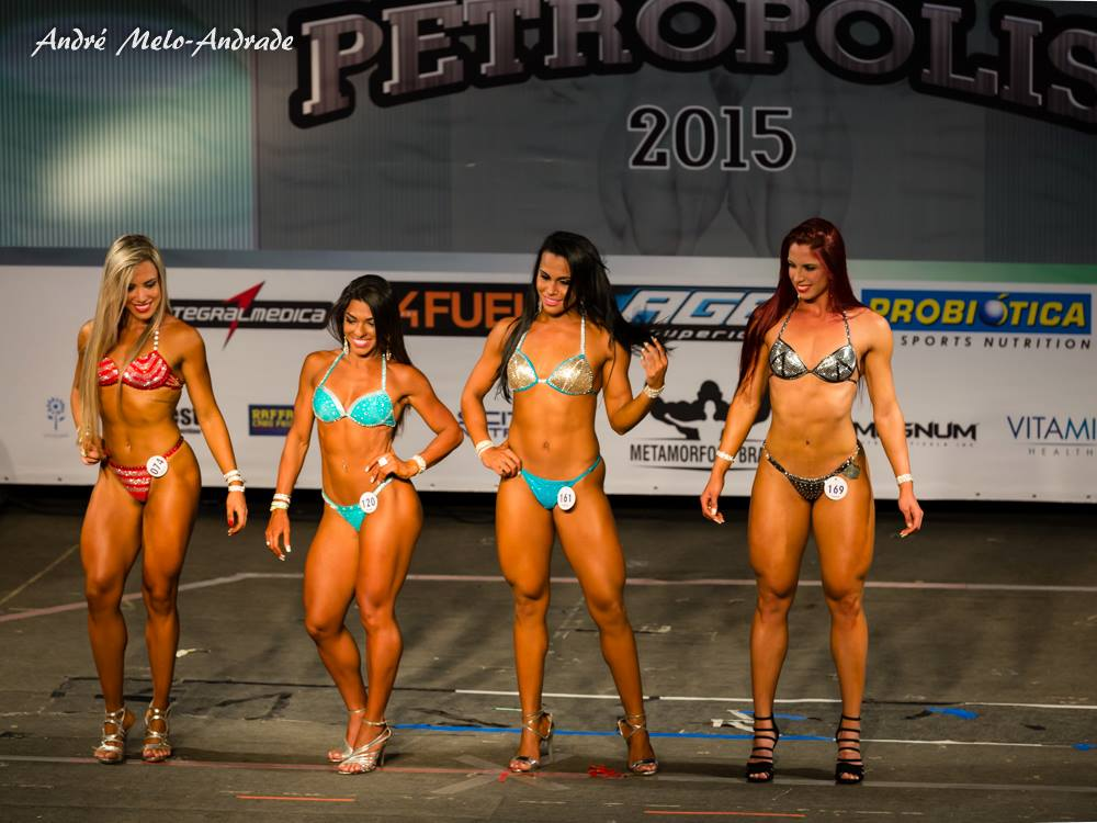 Carla Carra no confronto de atletas da categoria Wellness na disputa do Overall