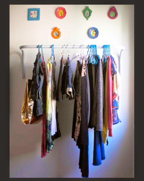 quarto, móvel, arara, roupas, decoração, armário