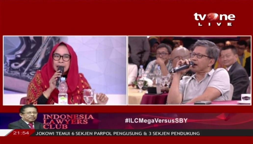 ILCMegaVersusSBY Rocky Gerung vs Dwi Ria Latifa