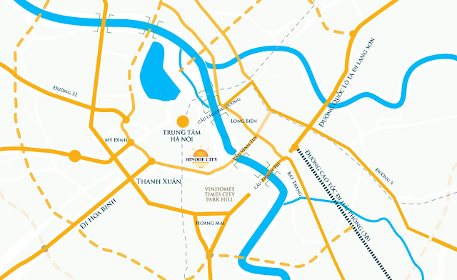 vị trí đắc địa của dự án Hinode City