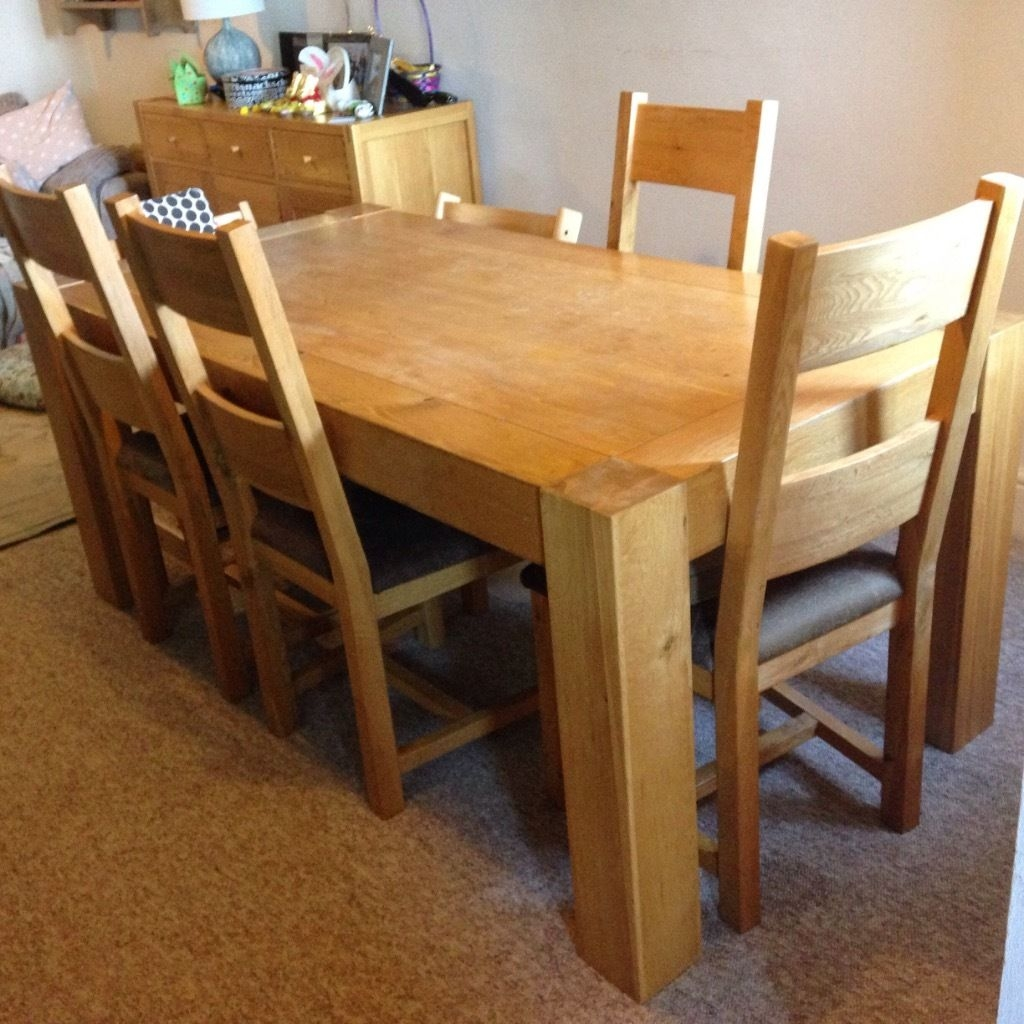 solid oak dining table with 6 chairs furniture village home amp garden