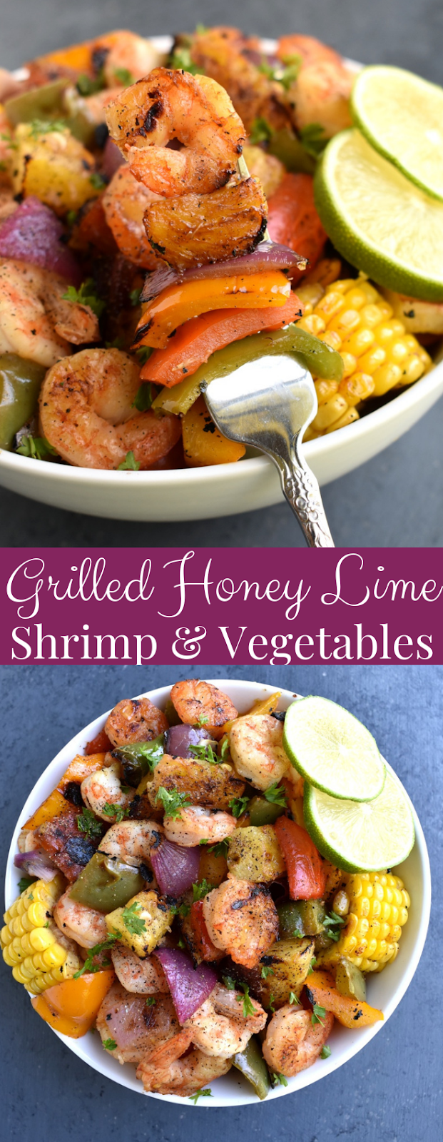 Grilled Honey Lime Shrimp and Vegetables recipe