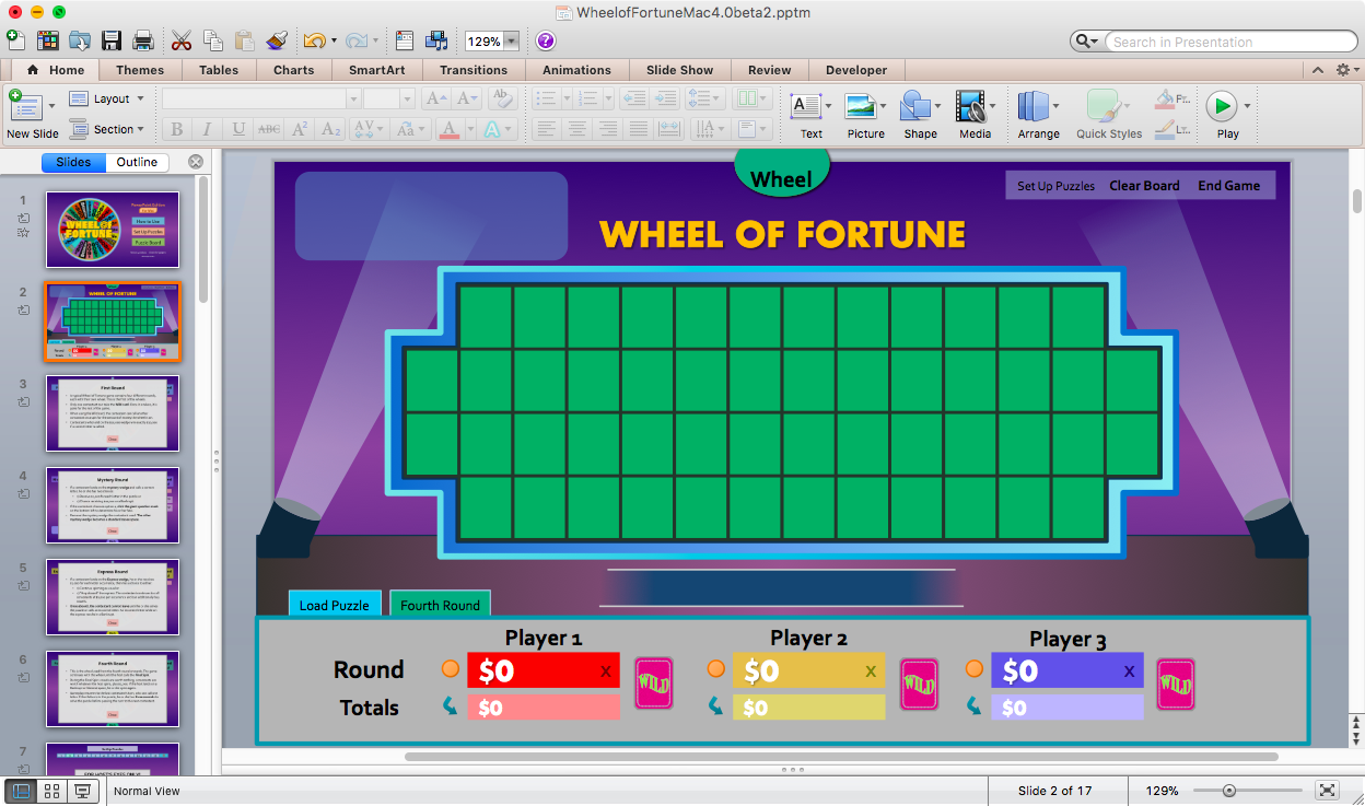 Wheel of fortune powerpoint spinning wheel template for Wheel of fortune game template for powerpoint