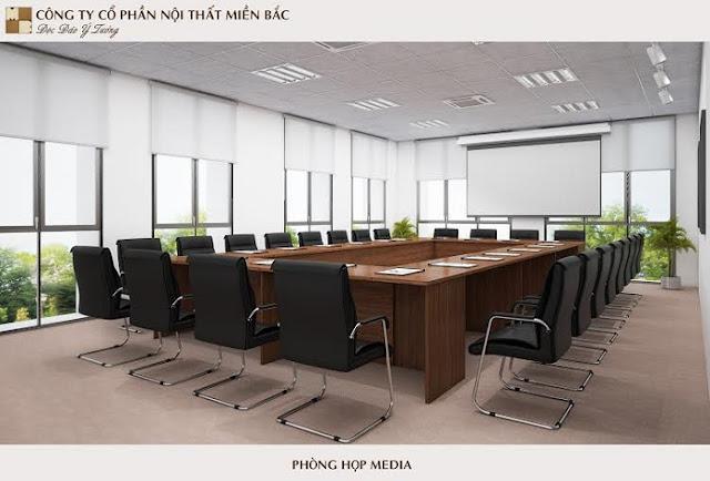 Mẫu thiết kế nội thất phòng họp đầy tiện nghi - H2