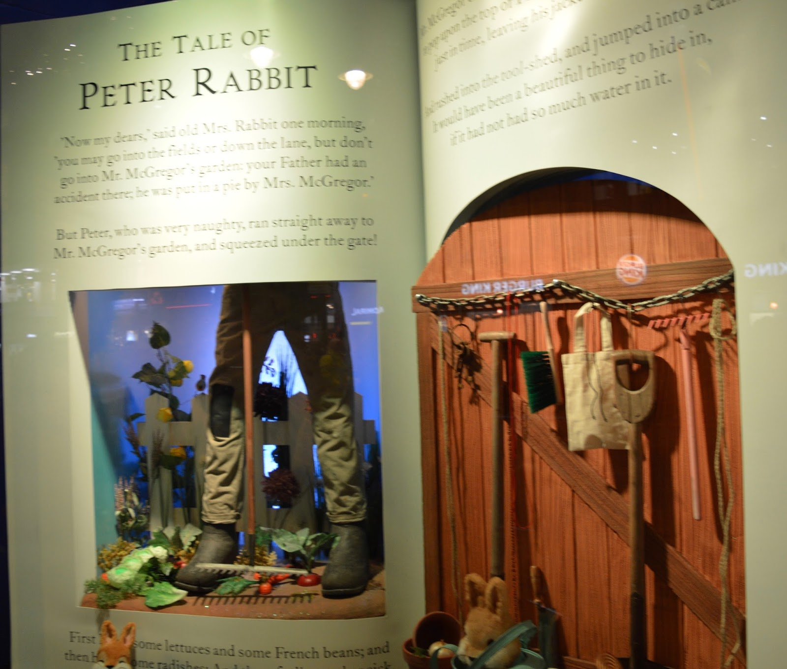 Fenwick's Window Newcastle 2016. Beatrix Potter / Peter Rabbit theme - Peter Rabbit story book