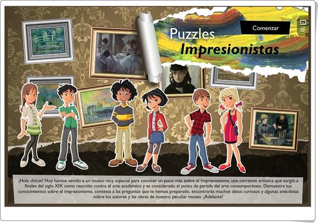 """""""Puzzles impresionistas"""" (Juego de Arte de Secundaria)"""
