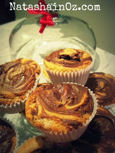 Nutella Muffins Recipe, Natasha in Oz, Nutella muffin image