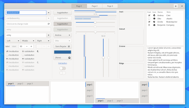 Updated GTK theme GNOME 3.32