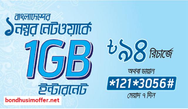 Grameenphone 3G internet offer 1GB @94 taka