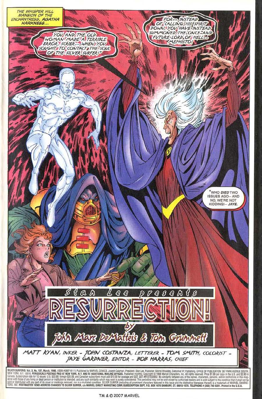 Read online Silver Surfer (1987) comic -  Issue #137 - 5