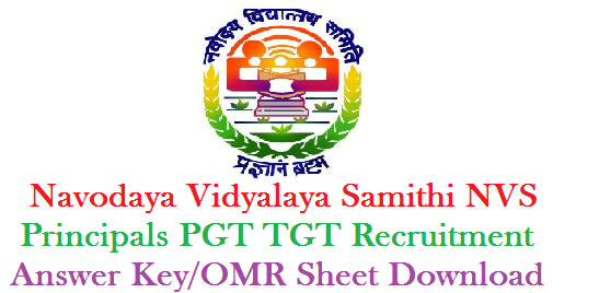 Navodaya Vidyalaya Samithi NVS Principals PGT TGT Recruitment Exam Answer/OMR Sheet by CBSE Download | NVS Recruitment Principals PGT TGT Written Exam Key Released | Answer key for Navodaya Schools Recruitment by CBSE OMR Sheet Download and raise their objections online | Download OMR Sheet/Answer Key for NVS Recruitment Exam 2016 at http://59.179.16.89/cbse/2017/nvsomr2/default.aspx navodaya-vidyalaya-samithi-nvs-principals-pgt-tgt-recruitment-exam-key-omr-sheet-download-cbse-mhrd