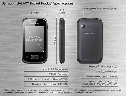 Samsung galaxy pocket gt-s5300 service manual for 5,52 $.