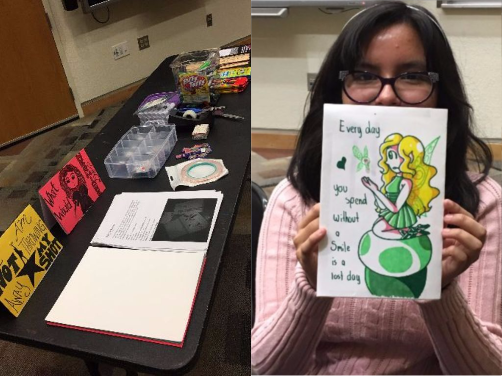 on december 7th the dorris van doren teen hangout group was invited to create cards holiday or otherwise using not only their artistic talents - Artistic Holiday Cards