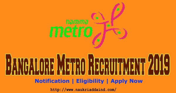 Bangalore Metro JE, SSE and Maintainer Jobs