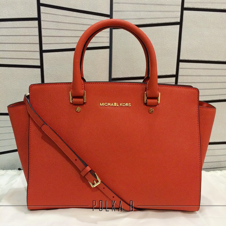 58e2275f72aea Michael Kors Selma Large Saffiano Leather Satchel - Orange