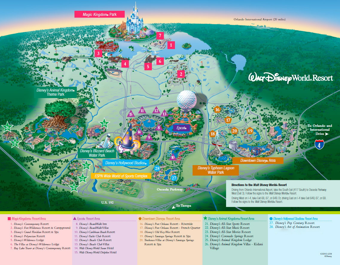 printable map of walt disney world resorts