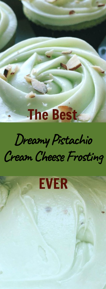 Dreamy Pistachio Cream Cheese Frosting #vegan #recipevegetarian
