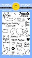 Sunny Studio Furever Friends 4x6 Cat Stamps