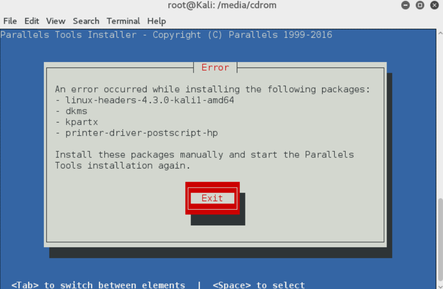 How to install Linux Kali 2016 1 into Parallels and install