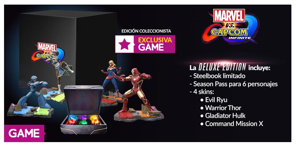 GAME nos presenta su espectacular edición coleccionista de Marvel vs Capcom: Infinite