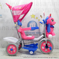 Family F993GT Unicorn Kanopy Baby Tricycle