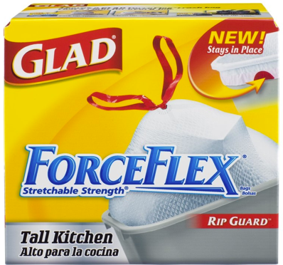 Glad ForceFlex Trash Bags Just .09 Per Bag After Coupons