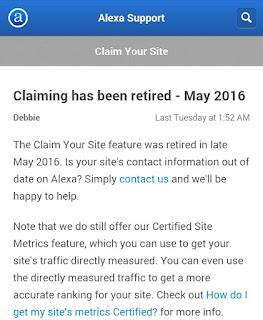 Claim Situs Gratis Di Alexa Sudah Berakhir.