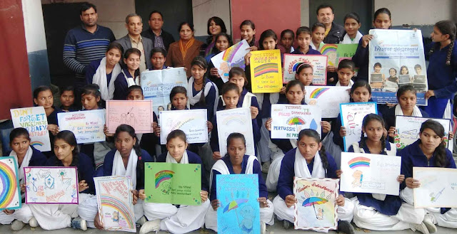 Full Vaccination Mission Indrahanush Awareness Campaign in Government School Sarai Khwaja