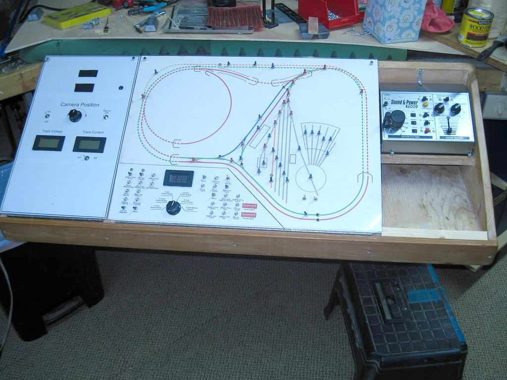 Slide out under table shelf for power pack & controls - Model ...