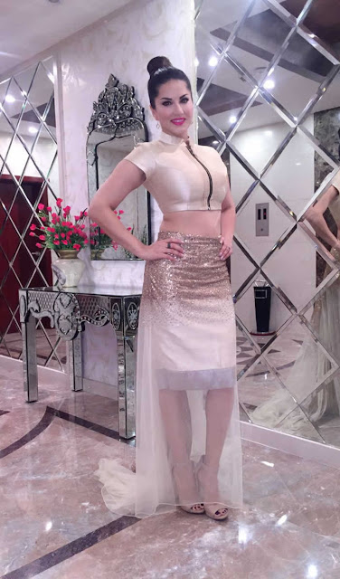 Sunny Leone In Designer Jyoti Sachdev Lyer's Outfit