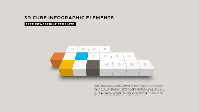 3D Cube Infographic Elements for Free PowerPoint Template Design Slide 12