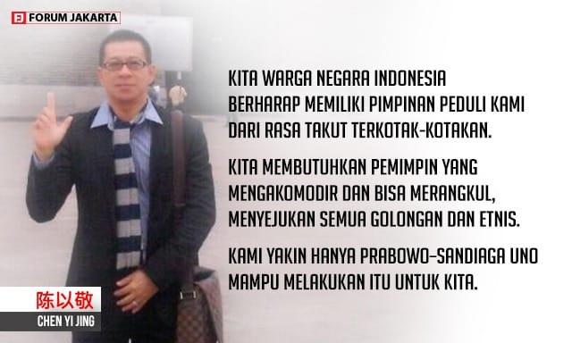 "Aktivis Tionghoa Ungkap Pengusaha Glodok ""All Out"" Menangkan Prabowo - Sandi"