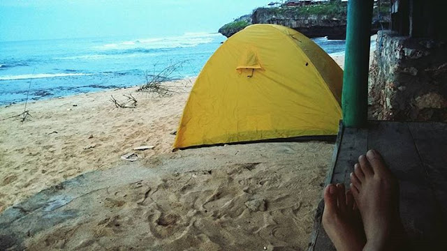 camping di pantai drini