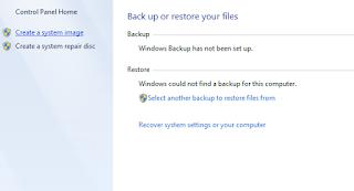 Cara Mudah Backup Dan Restore Sistem Pada Windows 7